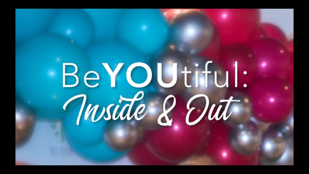 BeYOUtiful: Inside & Out event with blue and red balloons