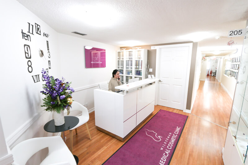 Reception of Wilderman Medical Cosmetic Clinic